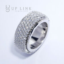 UP LINK Round Cut White Cubic Zirconia Ring Multi-Stones Size 6 7 8 9