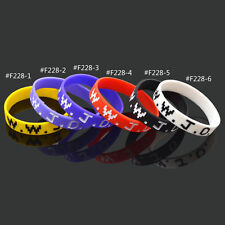 WWJD What Would Jesus Do Silicone Wristband Bracelet Multicolour Fashion New 1Pc