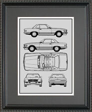 Blueprint Art - Mercedes-Benz AMG A-Class B-Class C-Class - Choose Your Model