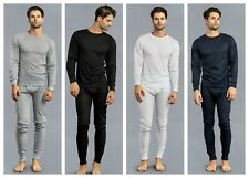 NEW 2Pc MEN THERMAL UNDERWEAR LONG JOHN TOP BOTTOM GIFT SET MINI WAFFLE S-3XL