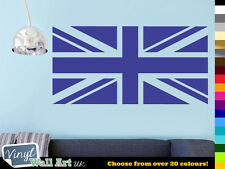 Union Jack UK Flag Vinyl Wall Art Sticker Decal British Flag in Various Colours