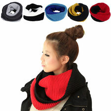 Fashion Women Winter Warm Infinity Circle Knit Cowl Neck Scarf Shawl Wrap Unisex