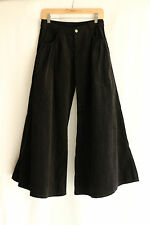 Womens Corduroy Cotton Spandex Bell Bottom Pants Flare Retro Wide Leg NEW 2 Pock