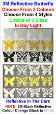 1x 3M Reflective Butterfly Vinyl Stickers For Car or Home Decal