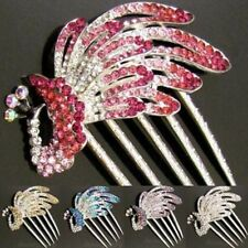 ADD'L Item FREE Shipping - Rhinestone Crystal Peacock Hair Comb French twist