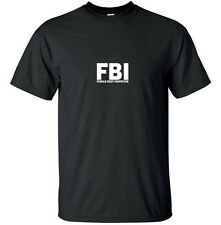 FBI Female Body Inspector - Funny T Shirt Adult Black White Custom