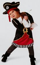 PIRATE GIRL TODDLER COSTUME 18-24 2T-3T Halloween Fancy Dress Up Play Hat NEW