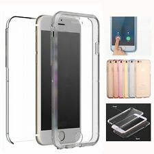 360°Full Cover Front+Back Clear Silicone TPU Case Skin for Apple iPhone6 6s Plus