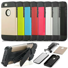 New Extreme Rugged Hybrid Case + Screen Flim + Belt Clip For Apple iPhone Series