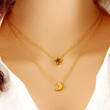 Charming Jewellery Moon Star Shaped Female Short Paragraph Clavicle Necklace Gif