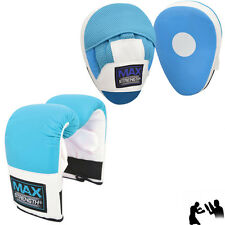 Boxing Gloves set Curved Focus Pad Hook and Jab Training Kick Fight Bag Mitts MM