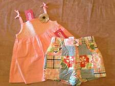 NWT Gymboree Beach Shack Smocked Swing Top & Patchwork Shorts Set 12-18 18-24 2T