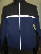 NEW MENS J. LINDEBERG Stretch Jacket SOFT SHELL FULL ZIP Golf Jacket, NAVY, $180