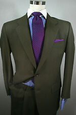 Sensational Lubiam for Barneys New York Brown Suit sz 38R