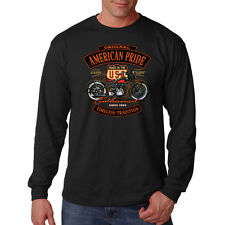Original American Pride USA Motorcycle Biker Chopper Long Sleeve T-Shirt Tee