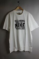 Billabong T1TS16BIS7 Nine Mens White T-Shirt with text nine print black