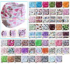 Baby One Size Cloth Diaper Reusable Pocket SOFT Minky Nappy HIP SNAP Wrap insert