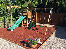 Rubber Play Bark Chippings for Play Area. Rubber Mulch 100kg - 600kg, 20kg Bags