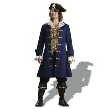 Mens Deluxe Halloween Pirate Fancy Dress Costume