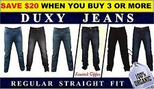 Men's Denim Jeans Regular Fit, Stretchable, by Duxy