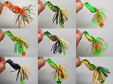 3pcs Bass Pike Snakehead Fishing Soft Bait Lure Frog Skirt Floating Weedless NEW