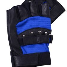 New Men's Leather Gloves Half Finger Fingerless Stage Sports Cycling Driving L52