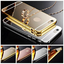 Luxury Aluminum Ultra-thin Mirror Case PC Back Cover for iPhone 7 6S 5S 5C Plus