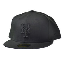 New Era New York Mets MLB Black On Black Fashion 59FIFTY Cap Black/Black Fitted