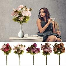 Artificial Peony Flowers Bouquet 8Heads Festival Home Bridal Wedding Party Decor