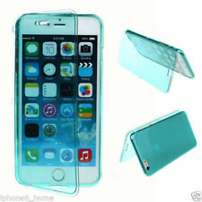 Transparent Green Soft Silicone Gel Flip Case Cover For iPhone 6/6s Plus 5.5""