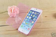 """Transparent Pink Soft TPU Gel Flip Case Cover For Apple iPhone 6/6s PLUS (5.5"""")"""