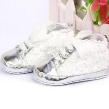 Rose Flower Lace Baby Kids Sneaker Prewalker Toddler Shoelace Crib Shoes Hot T38