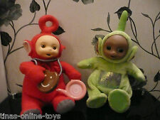 VINTAGE TELETUBBIE PO WITH CUSTARD BOWL & TOAST MOVING LEGS DIPSY WITH SOUNDS