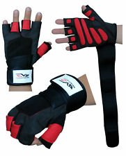 EVO Fitness Gym Gloves Weightlifting Neoprene Wrist Support Straps Wraps Cycling