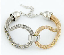 Fashion Women Lots Style Bracelet Gold Rhinestone Bangle Charm Cuff Jewelry New