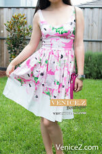BNWT $149.95 FRENCH CONNECTION FCUK Spring Break Floral Dress Pink Size 8 14