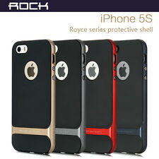 ROCK Hybrid Ultra Slim Hard Bumper Soft Rubber Skin Case Cover For iPhone 5S 5