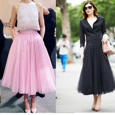 New Black/Pink Long Tulle Skirts Adult Celebrity Party Bridesmaid Formal Skirt
