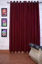 "Wine Faux Silk Curtains, 51"" (130cm) Wide - Choice of Plain Top, Length & Lining"