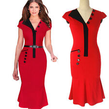 Bodycon Wear To Work Business Career Cocktail Party Secretary Women Office Dress