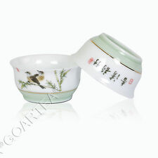 40ml GongFu Tea Porcelain Ceramic JingDe Chinese Bamboo White teacup tea Cup