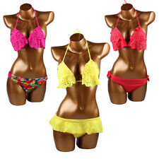 Women's Swimwear Bikini Set Sexy Fashion Bandeau Push-Up Padded Bra Swimsuit