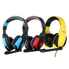 EACH G4000 Gaming Headphone USB Stereo Headset with Mic LED Volume Control N8YW