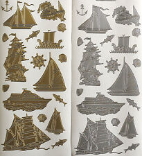 SAILING SHIPS STEAM TUG & SPEED BOATS NAUTICAL ANCHOR FISH PEEL OFF STICKERS