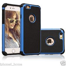 Shockproof Tough Armor Dual Layer Blue Case Cover For iPhone 6/6s & 6/6s Plus