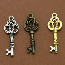 20-180pcs Exquisite Hollow Flower Magic key Alloy fashion Jewelry charm pendant