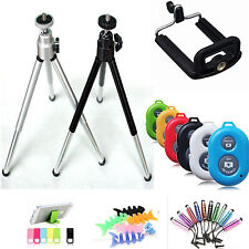 Bluetooth Remote Shutter + Tripod +Holder For Samsung Galaxy S6 S5 S4 Note 4 3 2