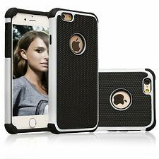 For iPhone 6/6s & 6/6s Plus Heavy Duty Tough Armor Dual Layer White Case Cover