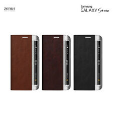 Zenus Leather Diary Case Cell Phone Back Cover Skin for Samsung Galaxy S6 Edge
