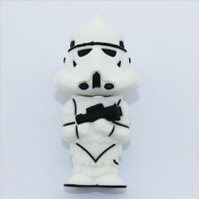New 4GB/8GB/16GB/32GB cartoon white warrior model USB2.0 Flash Memory Pen Drive